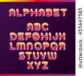 colorful alphabet | Shutterstock .eps vector #455647585