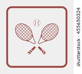 tennis rackets with ball icon. | Shutterstock . vector #455650324