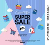 sale discount background for... | Shutterstock .eps vector #455652034