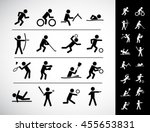 sports icon set | Shutterstock .eps vector #455653831