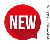 new label speech bubble red | Shutterstock .eps vector #455660149