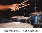 close up of man playing drums | Shutterstock . vector #455663665