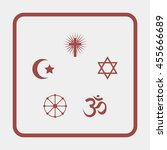 religion signs. | Shutterstock . vector #455666689