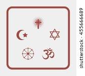 religion signs. | Shutterstock . vector #455666689
