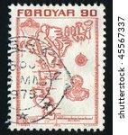 faroe islands   circa 1975 ... | Shutterstock . vector #45567337