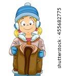 illustration of a little girl... | Shutterstock .eps vector #455682775
