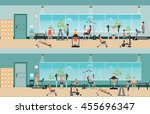 fitness cardio exercise and... | Shutterstock .eps vector #455696347