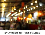 blur restaurant or cafe...   Shutterstock . vector #455696881