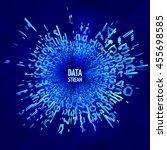 data stream vector | Shutterstock .eps vector #455698585