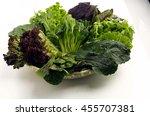 green vegetables in the basket | Shutterstock . vector #455707381