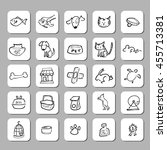 pet shop drawing icons set | Shutterstock .eps vector #455713381