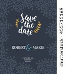 save the date card  wedding... | Shutterstock . vector #455715169