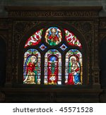 Stained Glass Window In Eglise...