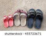 old shoes of poor families   Shutterstock . vector #455723671