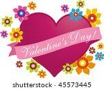 valentine heart  1 | Shutterstock .eps vector #45573445