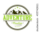 adventure mountain badge logo... | Shutterstock .eps vector #455742811