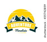 adventure mountain badge logo... | Shutterstock .eps vector #455742859