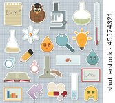 collection of science related... | Shutterstock .eps vector #45574321