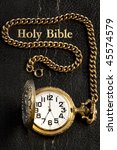 Black Holy Bible   Pocket Watch