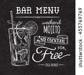 bar menu of cocktail proposal | Shutterstock .eps vector #455769769