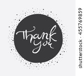 vector hand lettering thank you ... | Shutterstock .eps vector #455769859