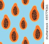 tropical exotic fruit papaya... | Shutterstock .eps vector #455779261