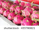 dragon fruit  pitaya  geow... | Shutterstock . vector #455780821