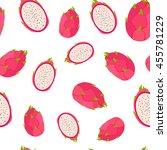 tropical exotic fruit dragon... | Shutterstock .eps vector #455781229