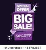 sale vector banner  special... | Shutterstock .eps vector #455783887