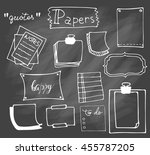 set of hand drawn paper notes... | Shutterstock .eps vector #455787205