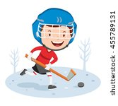 hockey player. vector... | Shutterstock .eps vector #455789131