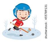 hockey player. vector... | Shutterstock .eps vector #455789131