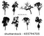 8 set vector trees | Shutterstock .eps vector #455794705