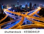 shanghai elevated road junction ... | Shutterstock . vector #455804419