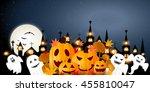 halloween pumpkin autumn... | Shutterstock . vector #455810047