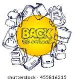 hand drawn vector set of sketch ... | Shutterstock .eps vector #455816215