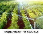 irrigation system in function... | Shutterstock . vector #455820565