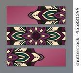 set vector horizontal banners... | Shutterstock .eps vector #455831299