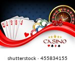 background red white poker... | Shutterstock . vector #455834155