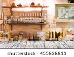 empty of wood table top on... | Shutterstock . vector #455838811