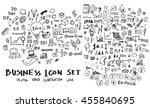 business doodles sketch vector... | Shutterstock .eps vector #455840695