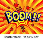 exploding cartoon boom text... | Shutterstock .eps vector #455842429
