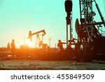 oil drilling exploration  the... | Shutterstock . vector #455849509