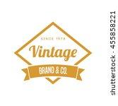 vintage logo and badge. vintage ... | Shutterstock .eps vector #455858221