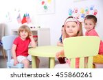 children sitting in kindergarten | Shutterstock . vector #455860261