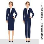 elegant pretty business woman... | Shutterstock .eps vector #455861074