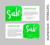 set of sale banners design.... | Shutterstock .eps vector #455861341