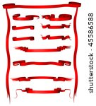 vector set of vintage red... | Shutterstock .eps vector #45586588