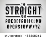 vector of stylized bold font... | Shutterstock .eps vector #455868361