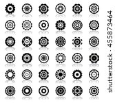design elements in circle and... | Shutterstock .eps vector #455873464